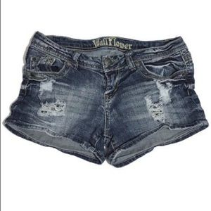 Wallflower Distressed Jean Shorts